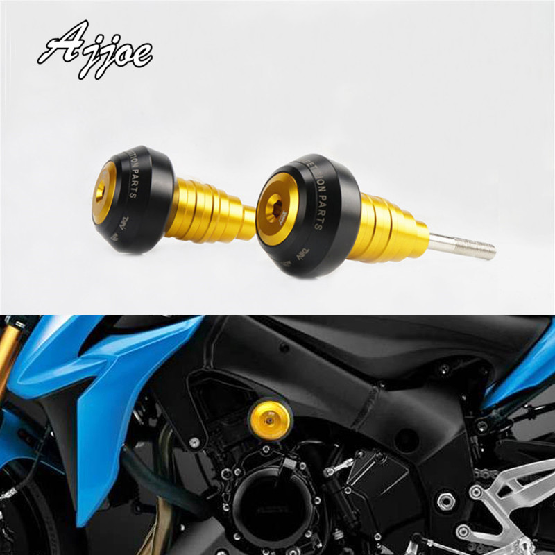 Motorcycle Frame Slider Crash Pad Protector Engine Cover Cafe Racer Falling Protector For For GSX-S1000 2015-2017 Simple