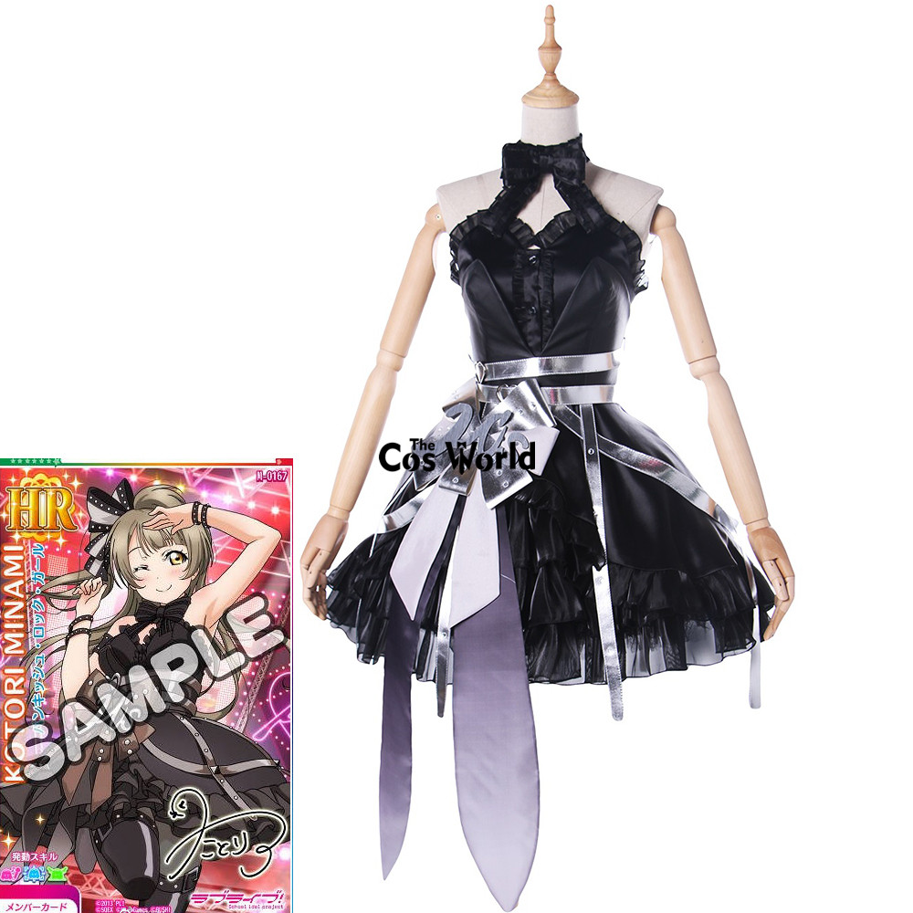 Love Live School Idol Project Minami Kotori Arcade Game III Tube Tops Dress Uniform Outfit Anime Cosplay Costumes