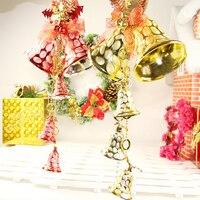 Цепочка звонок новый красочный 2019 Висячие Рождественская вечеринка Рождественская елка висячие украшения подарок #74330