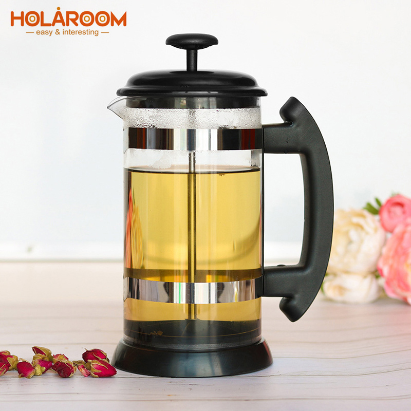 Practical French Presses Coffee Pot Durable Coffee Carafe Teapot Coffee Maker Kettle Stainless Steel Glass Coffeeware
