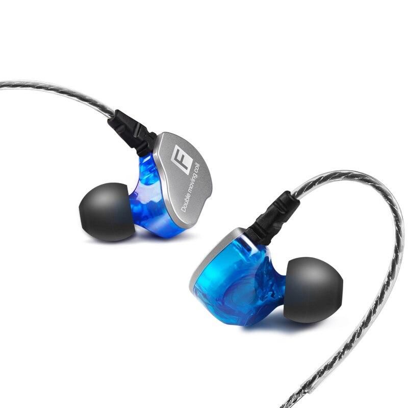 2017 F910 Heavy Bass In Ear Earphone Double Dynamic Drive HIFI Earphone DJ Metal Earphone Headset Earbuds Free Shipping original senfer dt2 ie800 dynamic with 2ba hybrid drive in ear earphone ceramic hifi earphone earbuds with mmcx interface