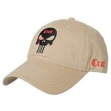цена на 2018 new Men Women Embroidered Amercian skull dad hat Cotton Running Hats Adjusted Snapback Baseball Cap