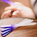 4 pcs Nail Arquivos de Cristal Durável Arquivo Vidro Dispositivo Decorações Da Arte Do Prego Ferramenta Manicure Tampão