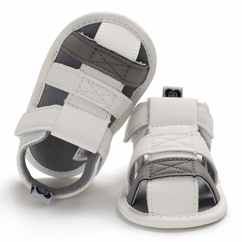Baby Boys Summer Pu Leather Anti-Slip Sandals Mixed Color Shoes Toddler Soft Soled Breathable Garden Shoes Beach Shoes