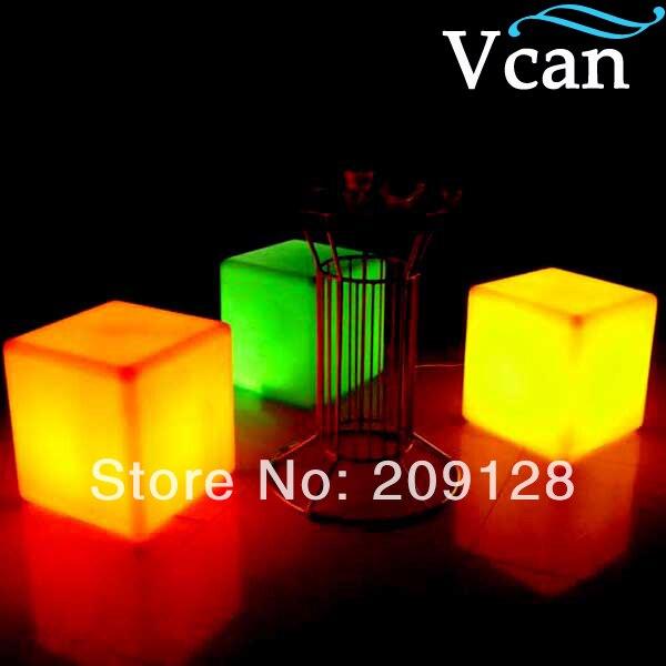 ФОТО LED Light colours change Bar Furniture 40*40*40cm  VC-A400