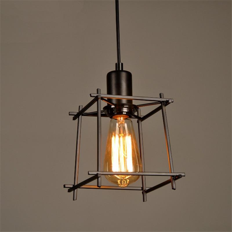 Vintage Pendant Lights E27 Industrial Retro Edison Lamps: HUANJUNSHI Vintage Pendant Lights Edison Light Lampshade