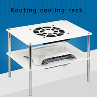Metal Taigang multi layer router cooling rack with mute USB 12cm cooling fan suitable for TV set top box, broadband cat radiato