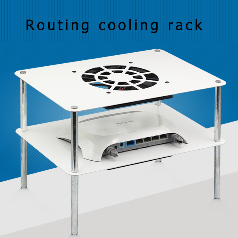 New PC cooler Titanium Router Radiator, USB 12cm DC 5V Cooling Fan, TV Set Top Box, Broadband Cat, Radiator, 280mm * 195mm router cooler cooling fan usb 12cm dc 5v high speed silent cooling fan 120mm usb fan for tv box android 7 1 2018 aluminio rack