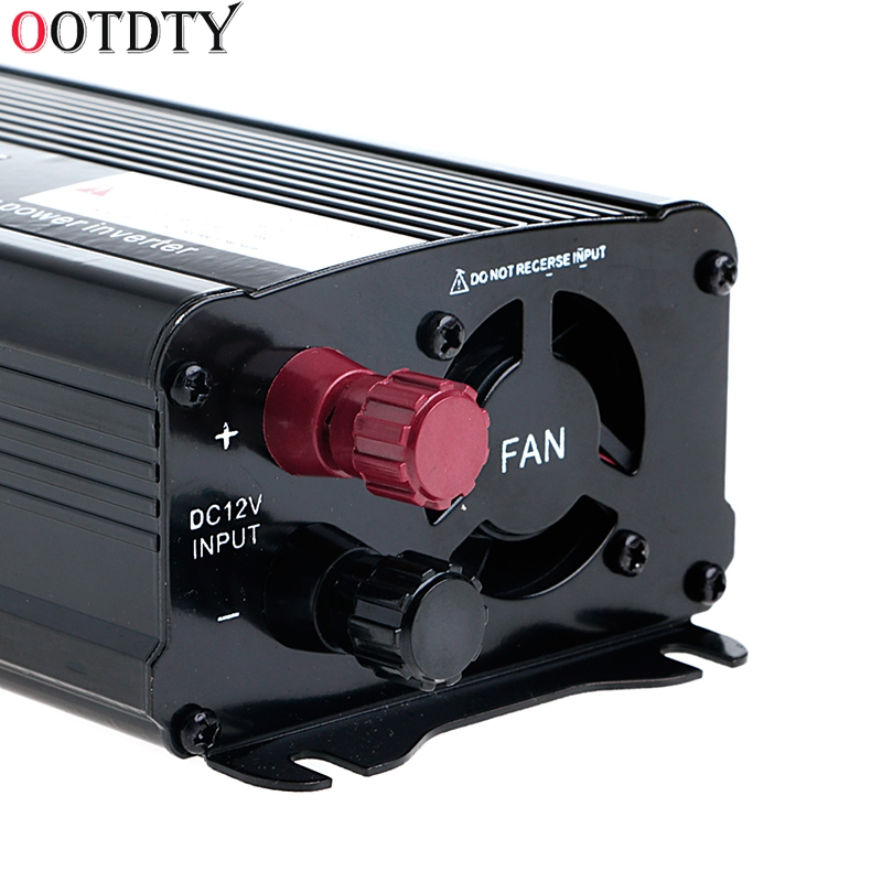 OOTDTY Solar Power Inverter 12V DC To 230V AC Modified Sine Wave Converter solar power inverter 600w peak 12v dc to 230v ac modified sine wave converter