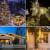 100 LED Amarillo Al Aire Libre Lámparas Solares LED Luces de Hadas de Vacaciones Fiesta de Navidad Guirnaldas Solar Luces de Jardín A Prueba de agua