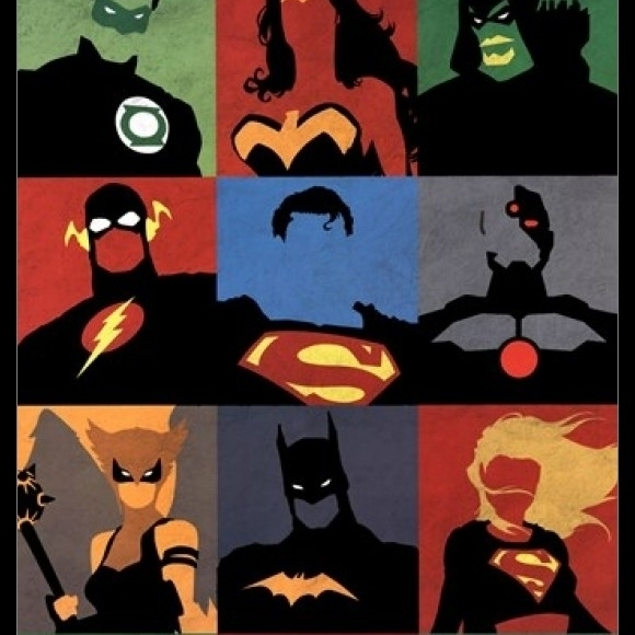 Justice League – Minimalist Laminated & Framed Poster Print (24 x 36)
