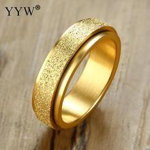 Trendy Stainless Steel Finger Ring Unisex Golden/Rose Golden/Multi-Colored Jewelry For Men Women Couple Ornaments Wholesale