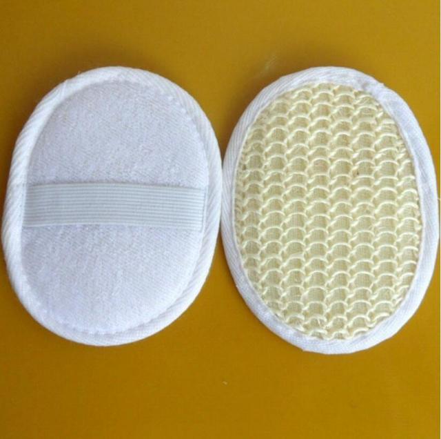 2PCS/LOT Natural Sisal bath Pad Skin Exfolianting, Peeling, Good for Cellulite Fight 100% Natural D5