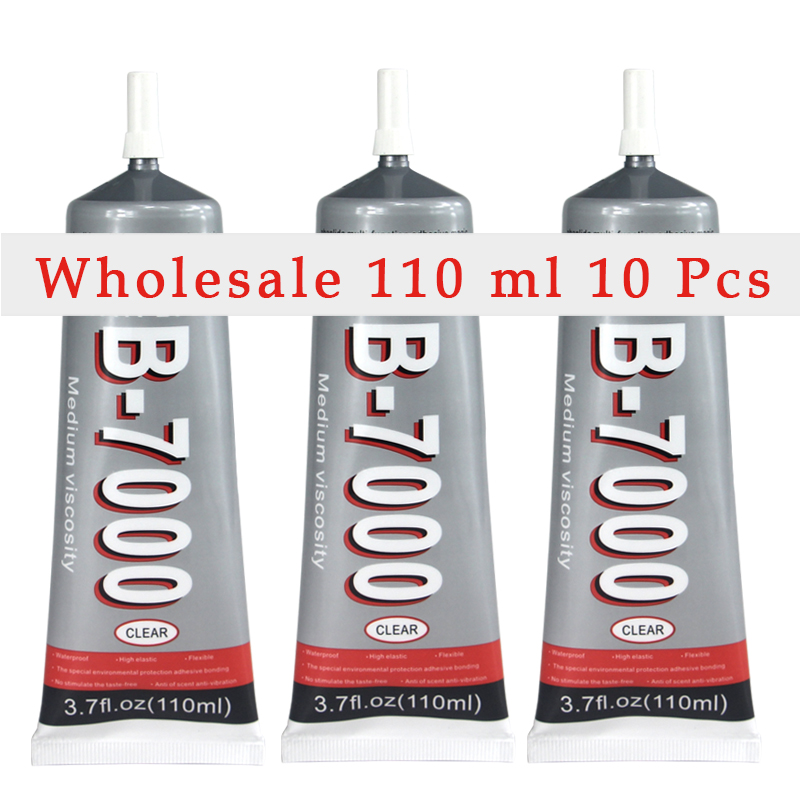 Wholesaler Glue B 7000 10pcs 110ml Transparent B7000 Glue Used For Jewery Touch Screen Rhinestones Diy