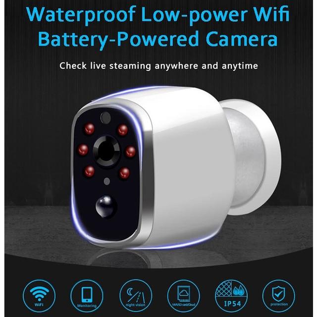 HD 720P kablosuz ip kamera su geçirmez şarj edilebilir pil Powered CCTV Wifi kamera akıllı ev mobil görünüm PIR Alarm bebek izleme monitörü