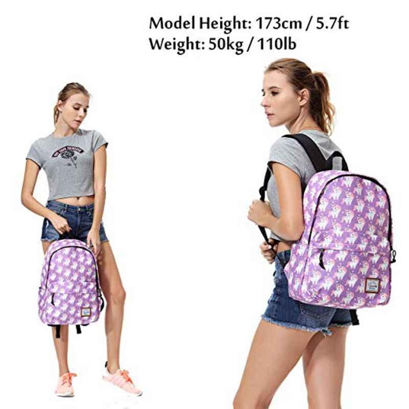 Vasky женский рюкзак школьные рюкзаки для девочек женские дорожные сумки рюкзак для ноутбука рюкзак для женщин рюкзак с единорогом