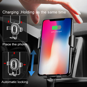 Image 3 - Baseus צ י רכב אלחוטי מטען עבור iPhone X XR 8 Samsung Galaxy S9 S8 נייד טלפון מחזיק מהיר אלחוטי מטען רכב מטען
