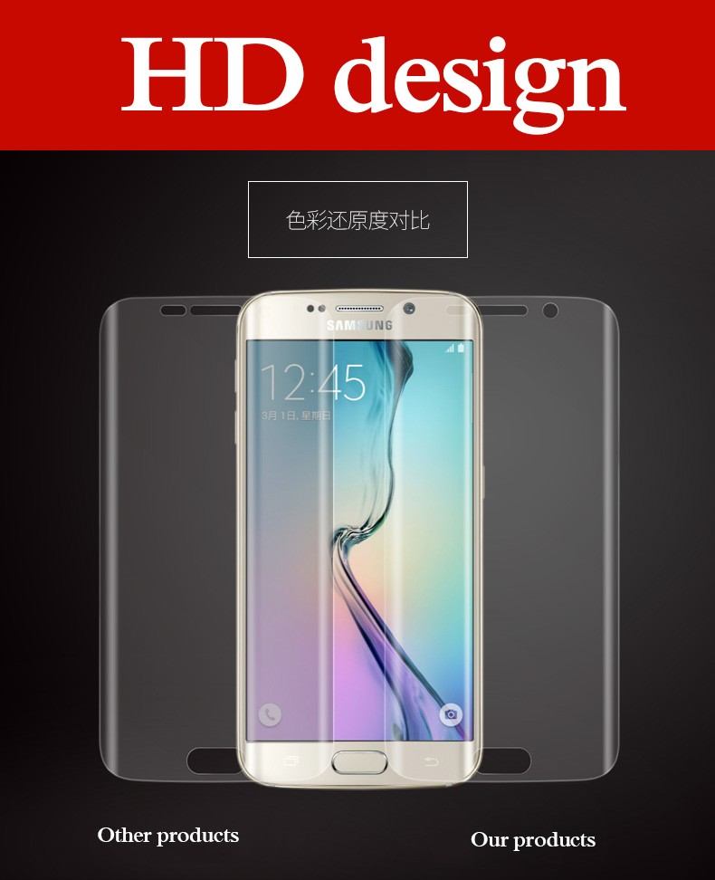 NEW 3D Full Coverage Curved Screen Protector For Samsung Galaxy S7 Edge S8 S9 PLUS S6 edge plus Soft PET Not tempered Glass Film
