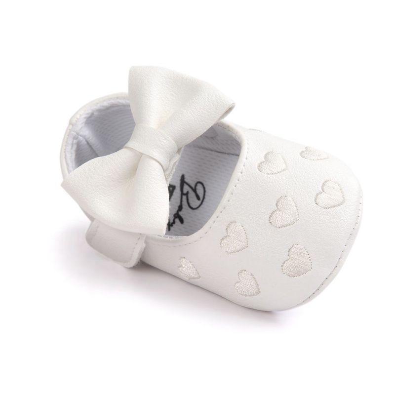 Купить с кэшбэком Bebe PU Leather Baby Boy Girl Baby Moccasins Moccs Shoes Bow Fringe Soft Soled Non-slip Footwear Crib Shoes M2