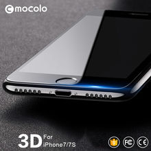 Mocolo 3d изогнутые премиум стекло для iphone 7 3d screen protector 10 шт./упак. для iphone 7 plus стекла пленка для iphone 6 6s плюс