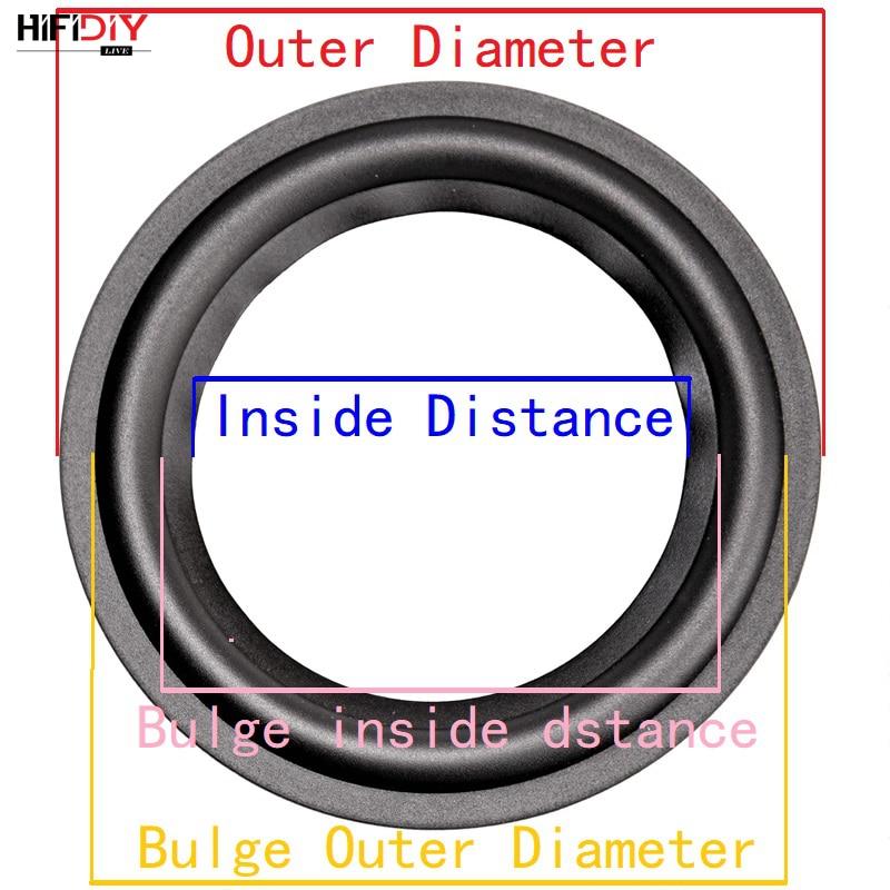 HIFIDIY EN DIRECTO/LIVE 4-12 pulgadas woofer altavoz piezas de reparación de caucho rodean borde plegable anillo Subwoofer (100 ~ 300 mm) 4 5 6,5 7 8 10 12