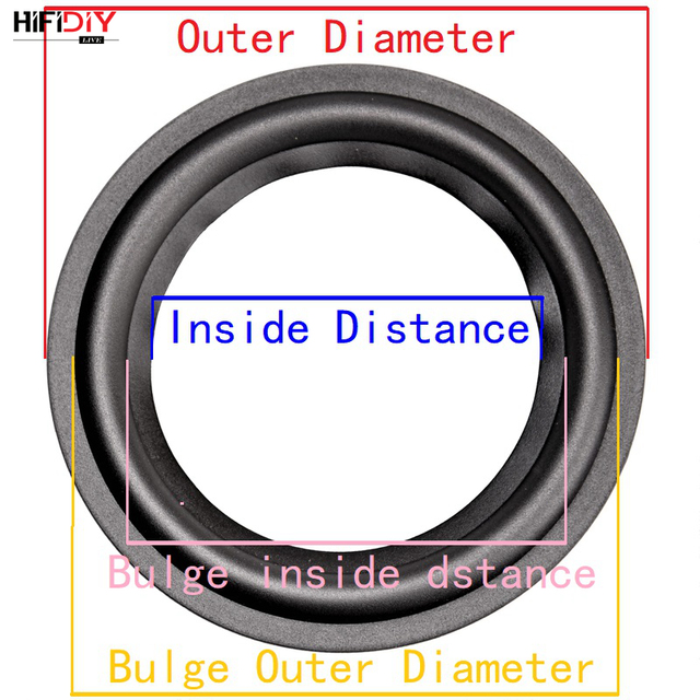 HIFIDIY LIVE 4-12 inch woofer Speaker Repair Parts Rubber surround edge Folding Ring Subwoofer(100~300mm) 4 5 6.5 7 8 10 12 1