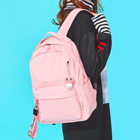 oxford waterproof school backpack for girls laptop backpack women 15 inch with usb travel backpacks for teen pink bookbag bags