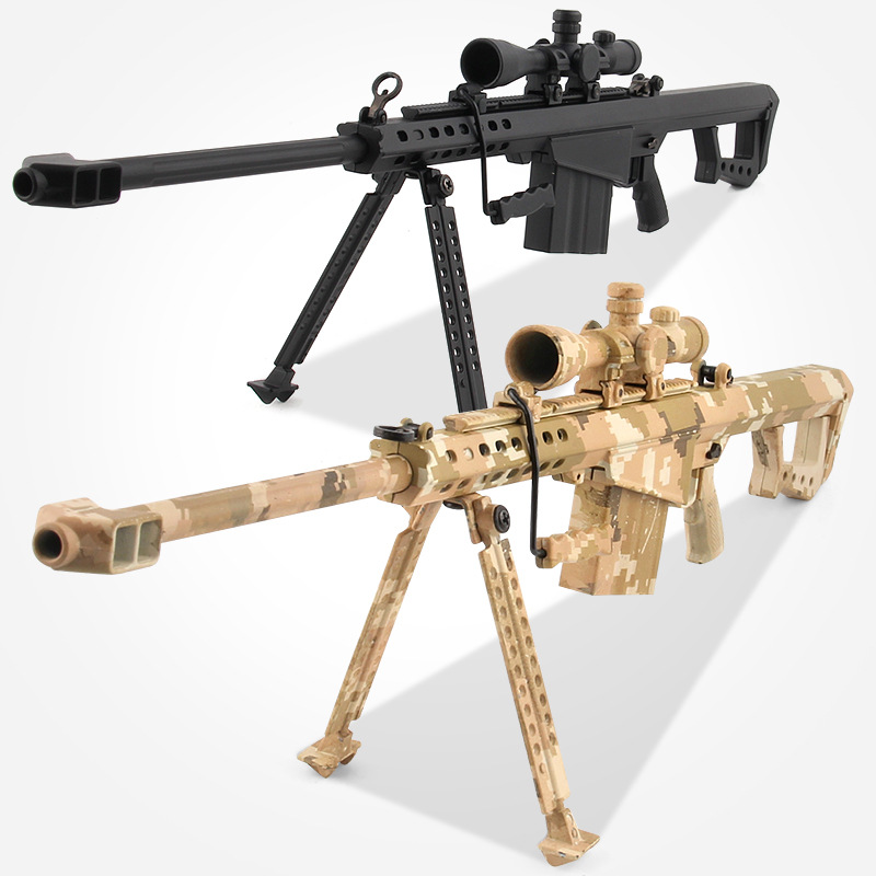 1:4 Alloy Assembly Simulation Gun Barrett Sniper Rifle Model Boy Military Model Children Toys trumpeter assembled model 1 25 u s truck model 2002 model 02506 military simulation fire engine model toys 36 66cm