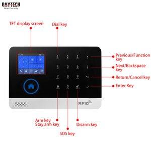 Image 2 - DAYTECH אלחוטי GSM בית מעורר מערכת LCD מסך מגע WiFi GSM אבטחת מערכת RFID תנועה גלאי אש עשן חיישן (TA01)