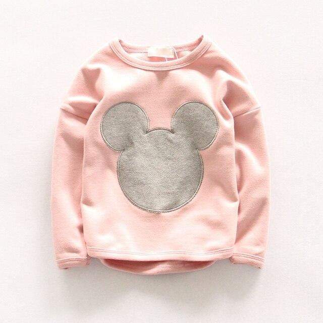 2016 fashion spring brand children clothing wear for cute kids loose cotton cartoon long sleeved knit girls sweatshirts