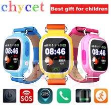 Smart watch q90หน้าจอสัมผัสgps t rackerสำหรับเด็กsosโทรWifi S Mart W Atchค้นหาสถานที่อุปกรณ์ป้องกันการสูญหายนาฬิกาPK q60 q80 q50