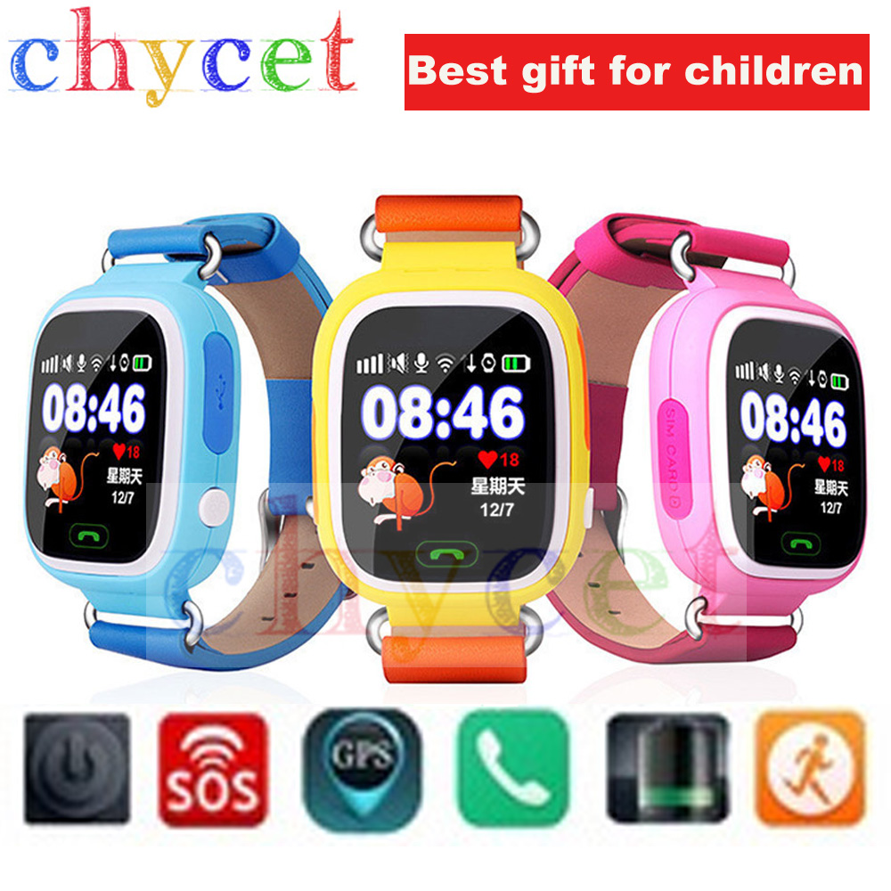 Smart Watch Q90 Touch Screen GPS Tracker for kid SOS call Wifi Smartwatch Location Finder devices Anti-Lost watch PK q60 q80 q50