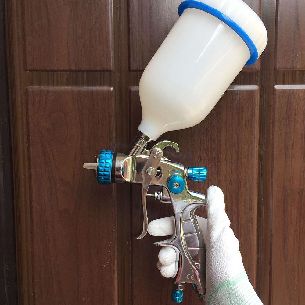 SAT1215 Spray Gun HVLP Gravity Feed Type Manual Paint for Car/Wall/Furniture Nozzle 1.4 Pneumatic Airbrush Spray Paint Gun wholesale sandblasting gun feeding nozzle pneumatic spray mortar exterior wall decoration of building latex paint spray paint th page 2