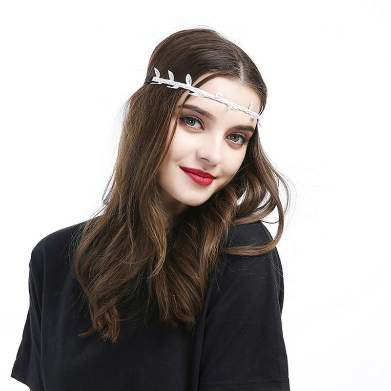 Fashion Baby Girl & Women Leaf Headband Hair Band Accessories Photography Props Drop Shipping 0511