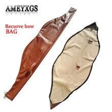 153x27cm Archery Traditional Recurve Bow Bag PU Leather Traditional Bow Carry Case Holder Arrow Bow Accessories полотенцесушитель zehnder yucca cover ypr 180 60 нержавеющая сталь левый