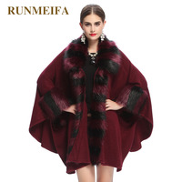 Women Cardigan Autumn Winter Classic Knitted Cashmere Poncho Imitation Ostrich Feather Bridal Wedding Shawl Wool Cloak