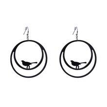 Animal Bird Earrings in Drop Geometric Round Acrylic Trendy Jewelry