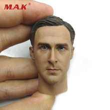 1/6 Scale Man Head Sculpt Ryan Gosling Male Figure Head Carving Model Toys for 12'' Male Action Figure 1 6 head sculpt the avengers 2 captain america steve rogers no neck head carving model for 12 action figure toys accessories