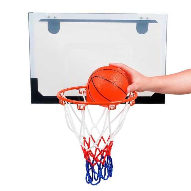 indoor mini sports basketball hoop kit set mesh net ball pump hoop