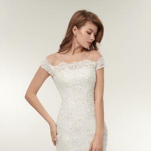 Image 4 - Fansmile Real Photo Vestidos De Novia Vintage Kant Mermaid Wedding Dress 2020 Plus Size Bruidsjurken Robe De Mariage FSM 165M