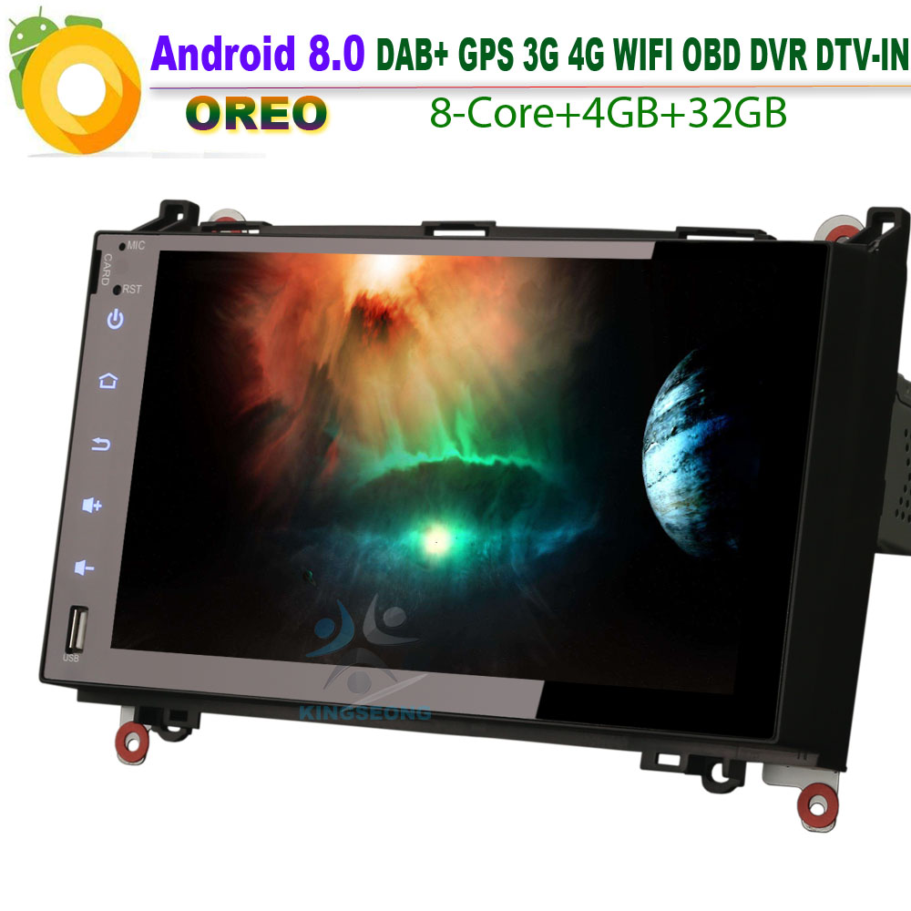9 Android 8.0 Autoradio DAB+8 Core Car GPS Navigation Navi BT Wifi For Mercedes Benz Viano Vito 4G RDS USB SD DVR Bluetooth OBD