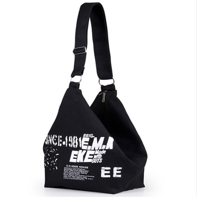 Women Canvas Shoulder Bag Lady Fashion Letter Print Handbag Female Crossbody Bags for Women Messager Bags Woman Shopping Bag women handbag shoulder bag messenger bag casual colorful canvas crossbody bags for girl student waterproof nylon laptop tote