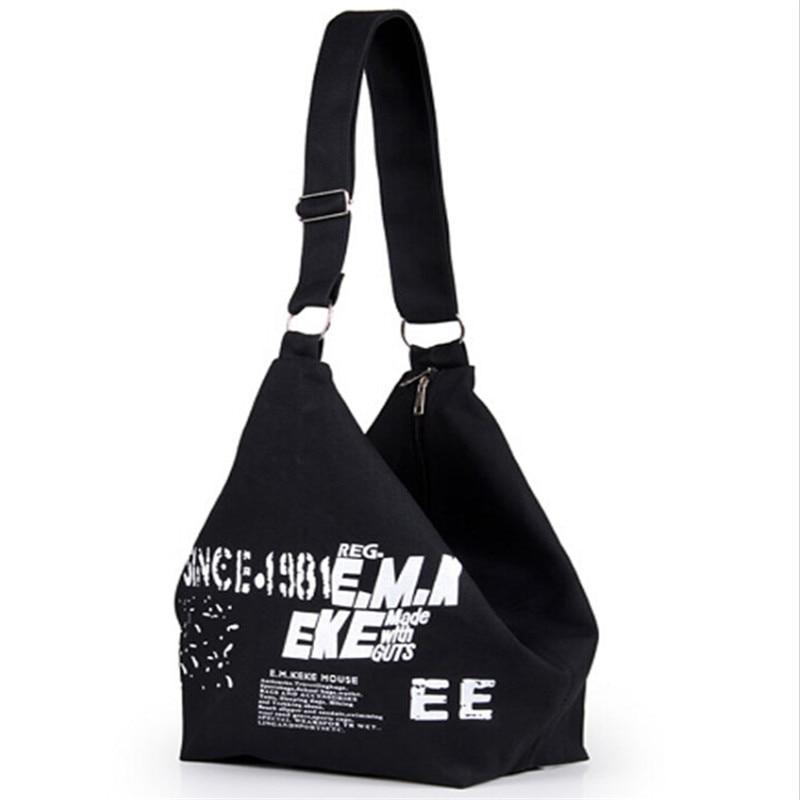 Women Canvas Shoulder Bag Lady Fashion Letter Print Handbag Female Crossbody Bags for Women Messager Bags Woman Shopping Bag