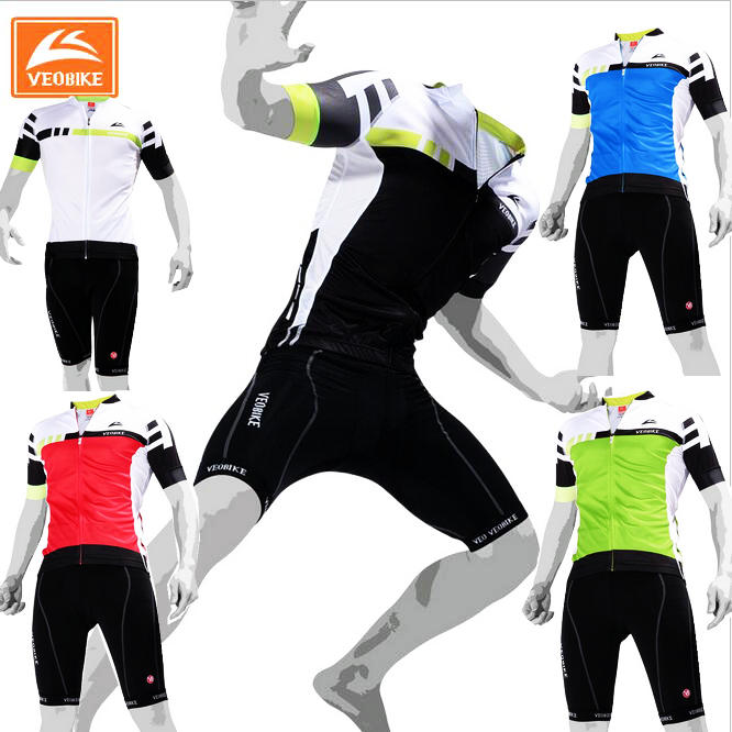 VEOBIKE 2017 Short Sleeve Cycling sets Summer Bicycle Riding Suits Bike jersey sets Cycling jersey Sets Cycling clothing 2017 cycling bicycle sports sets cool men cycling sets summer pro short sleeve cycling sets blue and white bike wear
