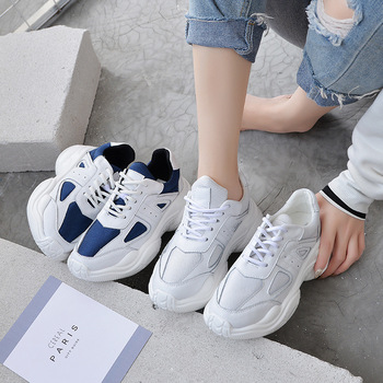 2019 autumn new fashion simple color matching casual shoes women trend leather comfortable wild flat shoes