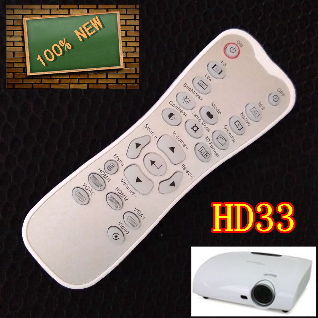sell New Remote Control for OPTOMA Projectors new projector remote control for optoma hd33 br 3060b hd25 hd25 lv br 3037b
