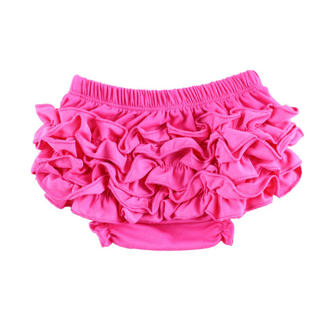1543b01e132 Lovely Baby Cotton Shorts Infant Toddler Flower Ruffles Bloomers Kids  Summer Diaper Covers Underwear PP Shorts 3Sizes 24pcs lot