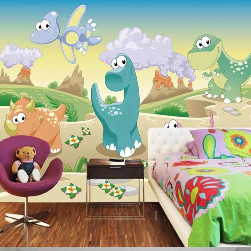Custom 3D Cartoon Animal Wallpaper for kindergarten Walls