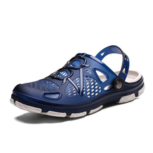 Summer men Beach Slippers Fashion Jelly Shoes Men Beach Sandals  Outdoor Casual Walking Beach Flip Flops Men Shoes