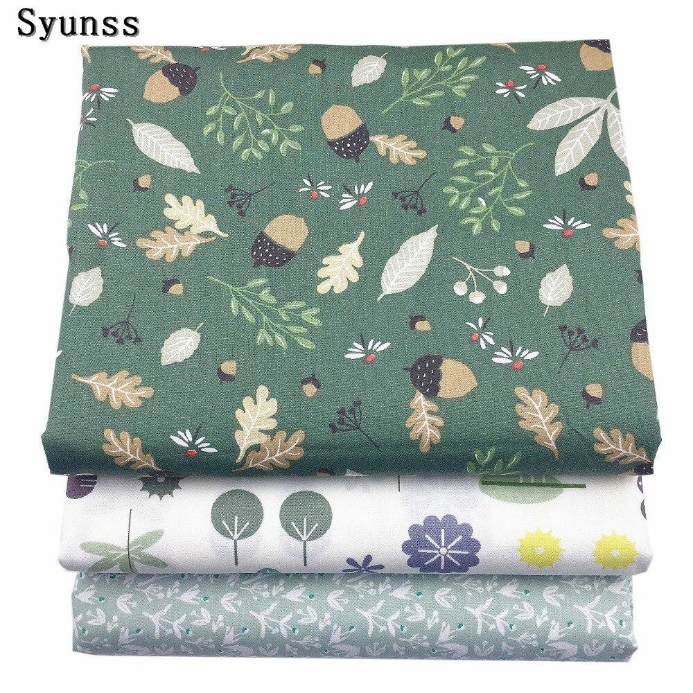 Syunss Новые цветочные печатных твиловая, хлопковая ткань DIY ручной работы в стиле пэчворк одежда для малышей Постельные принадлежности стёганый от Тильда Tissus